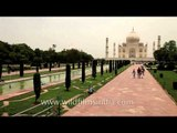 View of Taj Mahal from different angles and locations