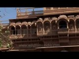 Meticulously carved balconies inside Jaisalmer Fort - Rajasthan