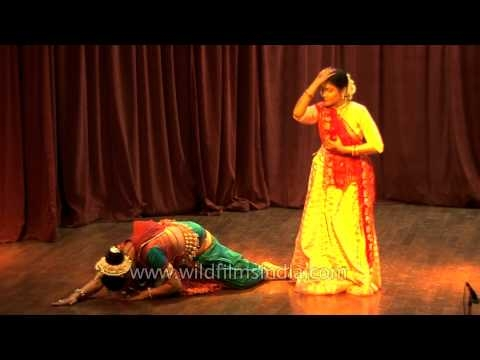 Indian classical dancers performing Odissi and Kathak dance forms