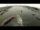 Express boats on Chao Phraya River, Bangkok