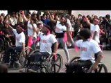 Disabled dancers perform at 'Jai ho' : One Billion Rising