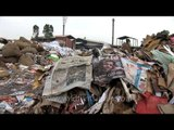 Waste paper for recycling at a recycling yard in Mawana