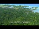 Nicobar and Car Nicobar Islands as seen aerially