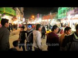 Enjoying the night carnival - at Kohima, Nagaland
