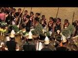 Naga tribals welcoming the delegates at Hornbill Fest
