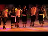 Kuki youth performing a dance at BOAT, Imphal