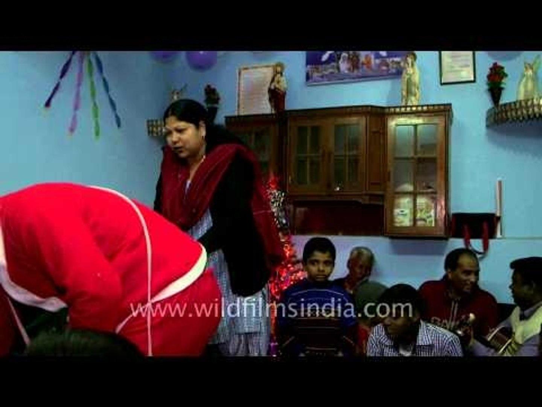 NGO children singing Christmas carol