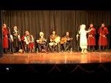 Georgian girl performing on the folk beats of Georgia