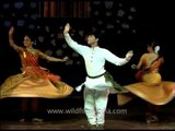 Dance troupe performing Indian classical Kathak