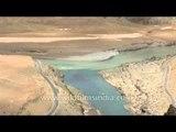 Indus and Zanskar River Confluence, Ladakh, Jammu & Kashmir, India