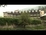 A hotel building in Manali, Himachal Pradesh in North India.