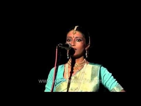 Indian classical dancer performing kathak