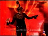 "Liz Mitchell of Boney M sings ""Brown Girl in the Ring"" in India!"