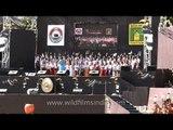 Opening ceremony choir song at the Hornbill festival, Nagaland