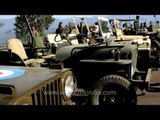 American army soldiers in Willys jeeps arrive in north-east India?