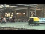 Traffic near Apollo Jasola Delhi Metro station!