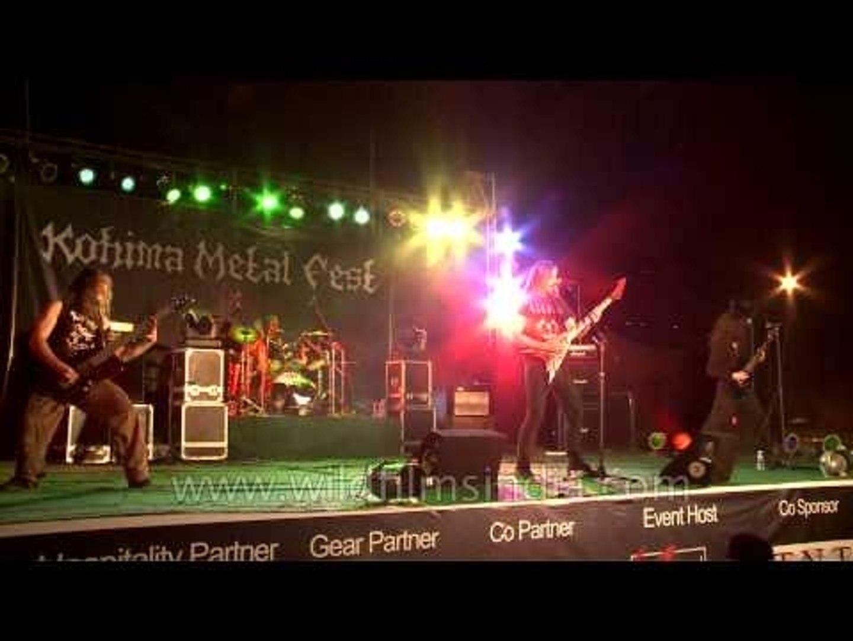 Bloodshot Dawn performing at the Kohima Metal Fest '12
