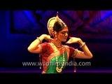 International dancer performing Odissi dance form