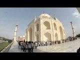 Taj Mahal through a fisheye lens!