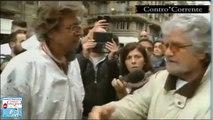 Genova,Grillo: «Siete la Rai?Versate prima 2 mila euro per l'alluvione di Genova e poi vi rilascio l'intervista»