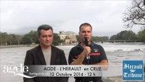 AGDE - 2014 - Dernière Minute - Le POINT VIGILANCE par le Maire d'Agde et le Commandant du SDIS par Didier DENESTEBE