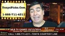 MLB Playoff Free Picks Betting Odds Previews Predictions 10-13-2014
