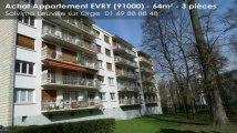 A vendre - appartement - EVRY (91000) - 3 pièces - 64m²