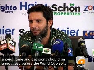 Afridi's Response on Remaining ODI Captain