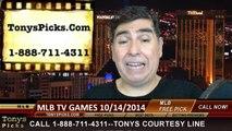 Free MLB Playoff Picks Predictions Betting Previews Tuesday 10-14-2014