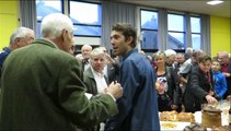 Le cycliste Thibaut Pinot parmi ses supporters à Melisey (70)