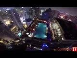 335 metre yükseklikten havuza böyle atladı