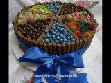 Bolos(Cakes) de Chocolate Recheados e Decorados #3 - Doce Mel Doces