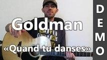 Jean-Jacques Goldman - Quand tu danses - DEMO Guitare
