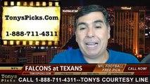 Houston Texans vs. Atlanta Falcons Pick Prediction NFL Preseason Pro Football Odds Preview 8-16-2014