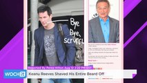 Keanu Reeves Shaved His Entire Beard Off