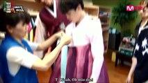 [SUB ITA] Scene Inedite - BTS American Hustle Life ep 2 - Jimin, J-Hope, Jungkook e Tony nel negozio di Hanbok