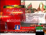 PTI Workers protesting in Islamabad Zero Point , Burn Nawaz Sharif's Effigy