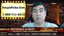 MLB Pick New York Mets vs. Washington Nationals Odds Prediction Preview 8-14-2014