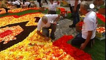 Immense tapis de fleurs à Bruxelles en hommage à l'immigration turque