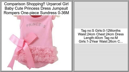 Urparcel Girl Baby Cute Princess Dress Jumpsuit Rompers One-piece Sundress 0-36M Review