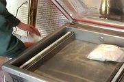 Máy hút chân không DZ500, máy đóng gói hút chân không chả lụa, cá viên, bò viên, máy hút chân không thịt cá