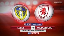 Leeds United 1 v 0 Middlesbrough Highlights #LUFC