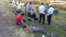 Üzümlü'de otomobil, şarampole devrildi: 7 yaralı -