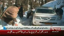 Snow jeep rally in malam jabba swat valley Pakistan sherin zada express news swat