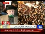 Qadri gives govt 48-hour deadline to implement his charter of demands 16th Auguest 2014