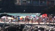 Candás: AMBIENTE y paisaje hoy 17 agosto en el puerto y playa