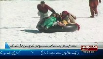 Snow shoes for tourist in malam jabbaswat valley Pakistan Sherin zada express news swat