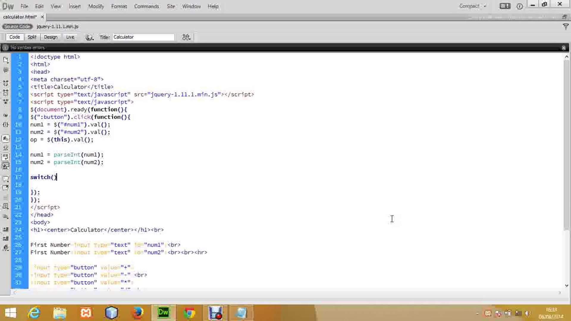 Make a Simple Calculator - Web(HTML & jQuery)