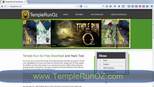 Temple Run Oz Cheats Hack Android