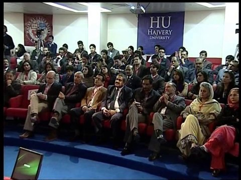 TEDxHUP Ex-Governor Punjab, Lt. Gen Khalid Maqbool speaking at Hajvery University (HU)